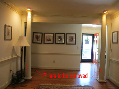 a remove pillars in office
