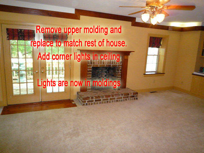 a remove and replace molding in family room