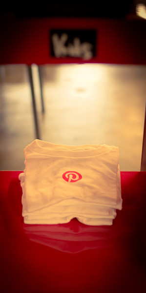 There is an area in the back full of a bunch of Pinterest t-shirts, including this adorable tiny-sized one for kids.
