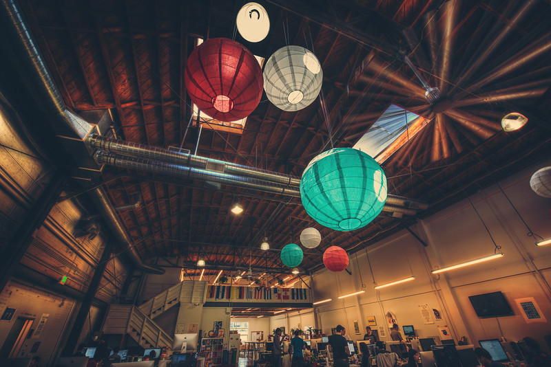 Chinese globes decorate the skyspace in the upper atmosphere of Pinterest...