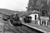 Nowadays the base of the Gwili Railway, this was Bronwydd Arms on 31st July 1958 with 7829 'Ramsbury Manor' arriving with an Aberystwyth to Carmarthen train.