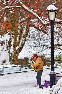 Sax on ice  Photographing New York City. http://amzn.to/dfgnyc