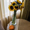 Flowers and pumpkin in our room