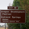 Sign for the Festival and our hotel on I-5