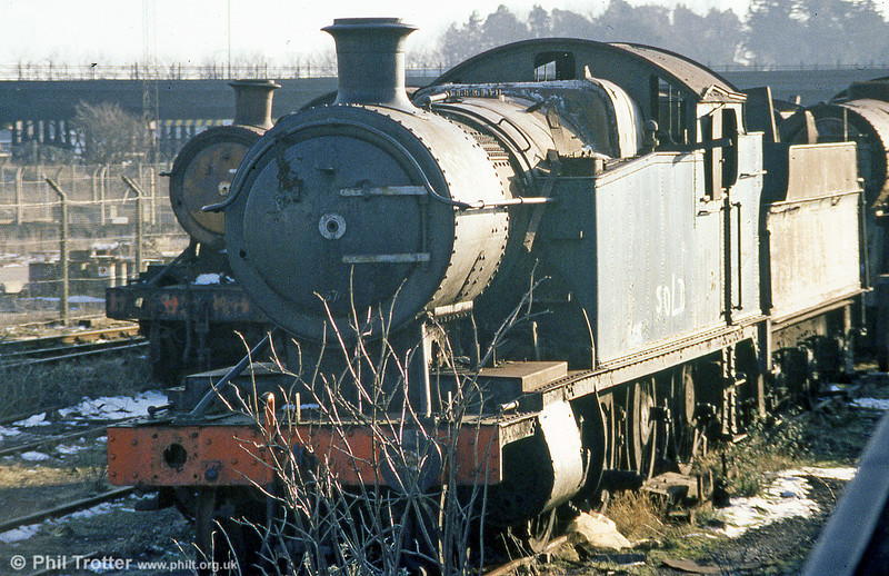 GWR 2-8-0T no. 4270. It was later rescued for preservation at Swansea and subsequently sold on to the Gloucestershire & Warwickshire Railway.
