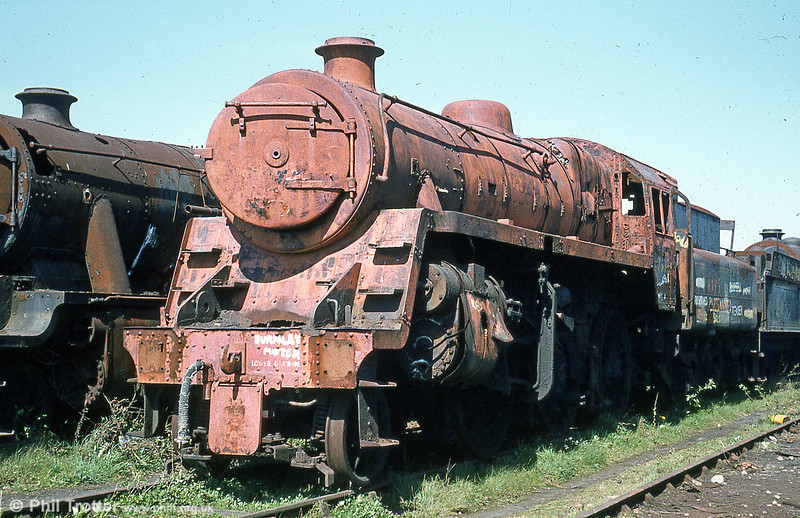 A coating of red oxide primer has made BR standard 4MT 2-6-0 no. 76084 look a little less forlorn.