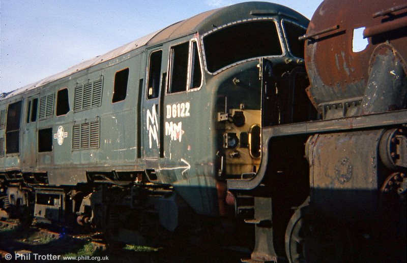 North British class 21 D6122, a former Scottish Region locomotive, had been used, following withdrawal, for rerailing exercises at Hither Green.