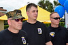 Exercise 3<br /> How to fit get rid of black object that seemingly protrudes from middle warrior's head?<br /> Step 3 - Select hair sample of top of head and place on seperate layer. <br /> Mike Packman<br /> (picture courtesy of Stan Serota - Wounded Warriors Day)