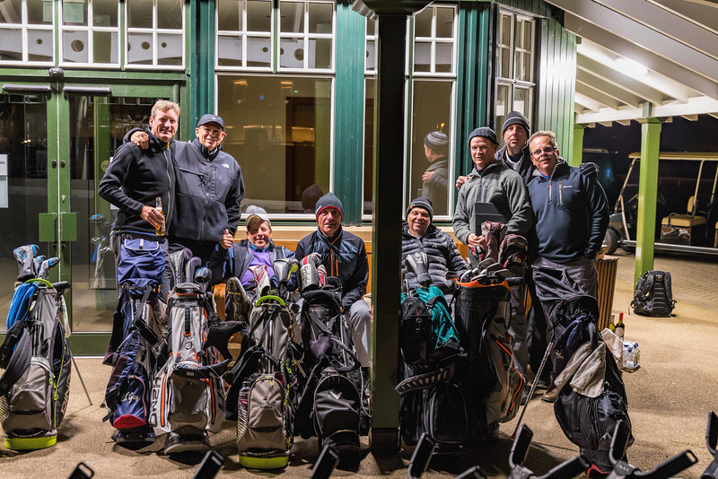 Our group camping out all night to be first in line to play the Old Course.