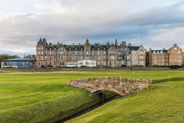 MacDonald Marine Hotel from the North Berwick Golf Club.