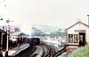 A general view of Swansea Victoria Station with an LMS 'Black Five' 4-6-0 ready to depart for Shrewsbury.<br /> Photo: Brian Owen