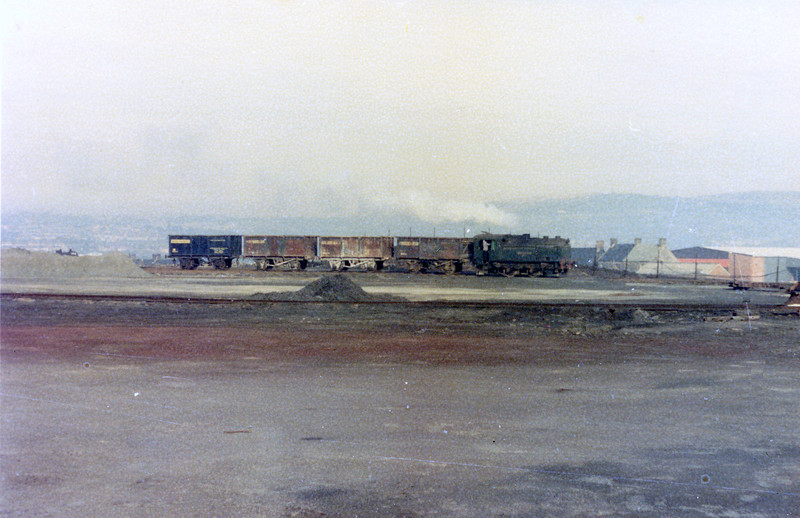 Sentinel 4wVBT (9622/1958) 'Swansea Vale No. 1' in action at the Imperial Smelting Corporation, Swansea Vale works, Llansamlet.<br /> Photo: Brian Owen