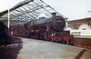 LMS 'Jubilee' class 4-6-0 no. 45660 'Rooke' waits to depart from Swansea Victoria with the 6.25pm 'York Mail' on 2nd April 1964. Swansea Leisure Centre now stands on this site. <br /> Photo: Brian Owen.