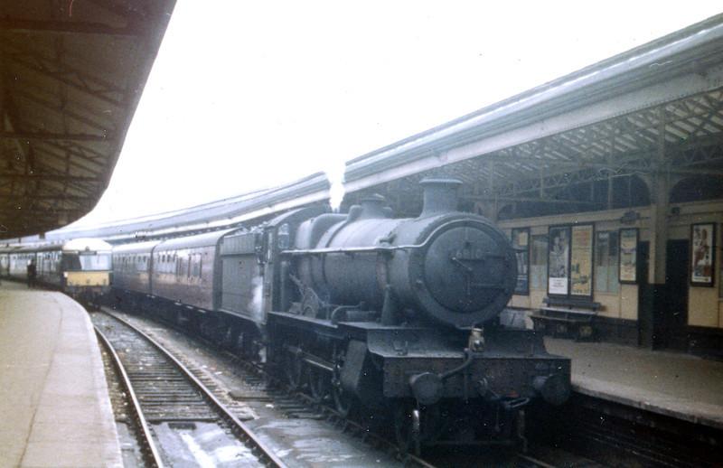 GWR Collett 6800 class 4-6-0 'Grange' no. 6810 'Blakemere Grange' at Swansea High Street.<br /> Photo: Brian Owen