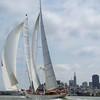 d/l of Superyacht and San Francisco skyline