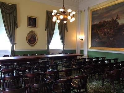 Old Senate Chamber in the Virginia State Capitol Building. Richmond, Virginia