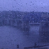Looking out from the TN Aquarium at the Market St John Ross Bridge.