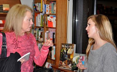 Marsha Scherbel and Dora Malech after readings