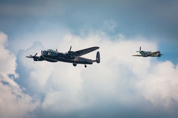 Lancaster and Spitfire
