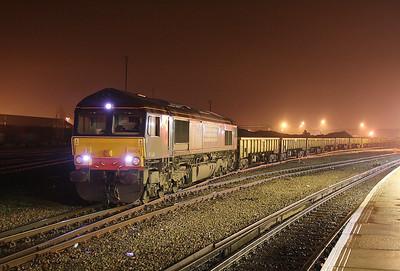66404 Eastleigh 07/01/11 6M96 Eastleigh to Mountsorrel empty ballast