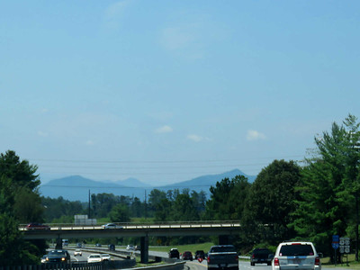 view of the mountains from I-26 in North Carolina