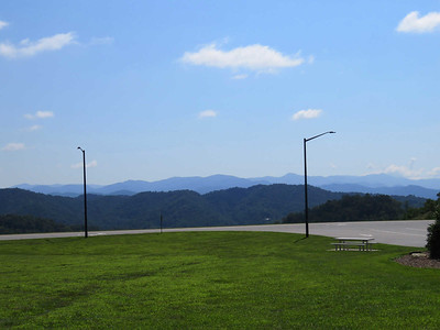view from the North Carolina Welcome Center on I-26