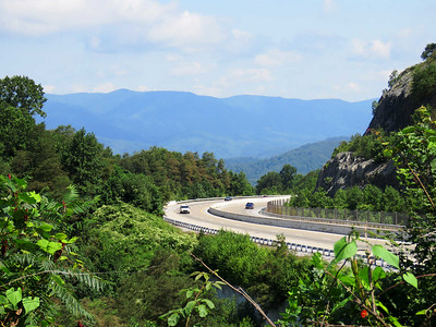 view from Sam's Gap overlook, on I-26 in Tennessee just above the North Carolina border