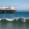 "<span id=""title"">Body Surfing</span> <em>Malibu Pier</em> This kid had a friend... I guess he's behind the wave?"