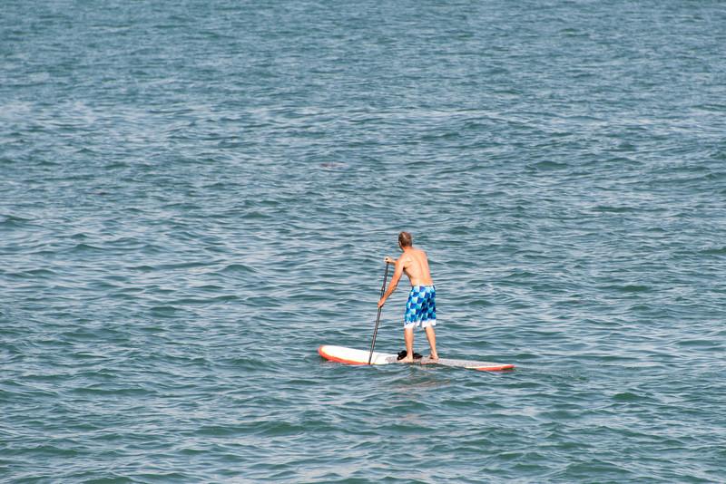 "<span id=""title"">Paddleboarder</span> <em>Malibu Pier</em>"
