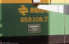 Worksplate of RENFE 269 108.