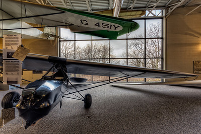 1931 Steel Tube Trainer was the first two-seater Glider built in the US. National Soaring Museum, Harris Hill, NY.
