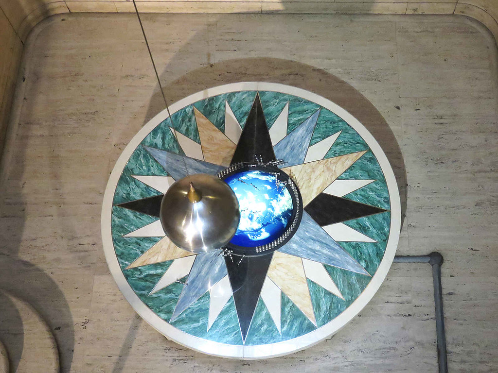 Focault's pendulum -  similar to the one that was used to prove that the earth turns