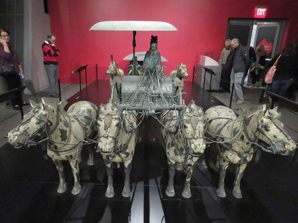 Bronze chariot No. 1 (replica)
