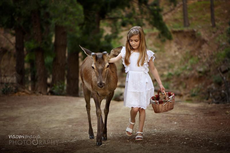 Carolina and Paco the deer