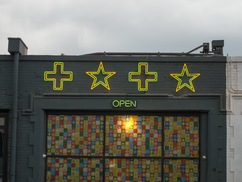 "<span id=""title"">Crosses and Stars</span> Not sure what this store was. But it was open!"