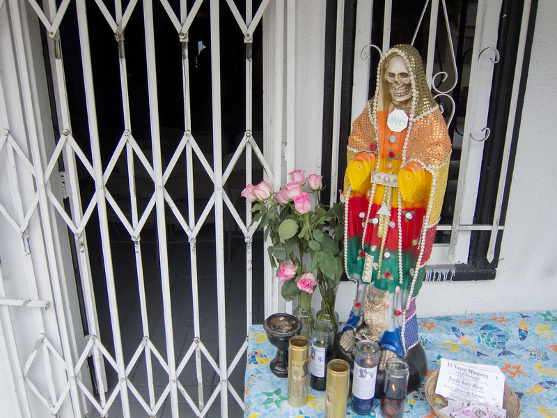 """<span id=""""title"""">Templo Santa Muerte</span> Here's another thing that I didn't know what to make of. Apparently it's like a church? Of death? I don't know."""