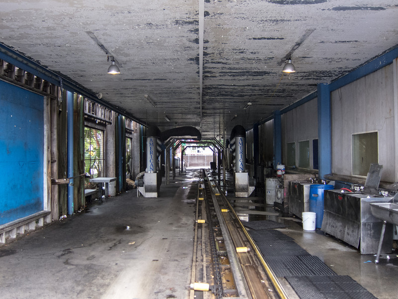 "<span id=""title"">Empty Car Wash</span> No one was working or getting their car wash due to the rain."
