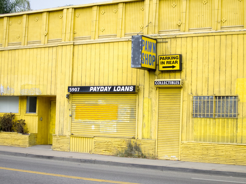 "<span id=""title"">Very Yellow Pawn Shop</span> Another brightly colored building, not far from Pinky's."