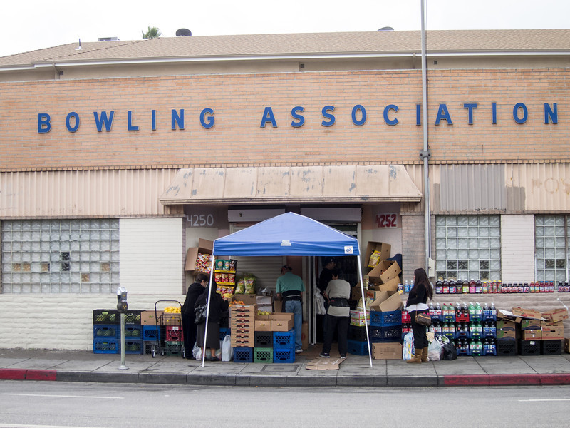 """<span id=""""title"""">LA Bowling Association</span> Didn't look like there was much bowling going on today, just some selling of goods."""