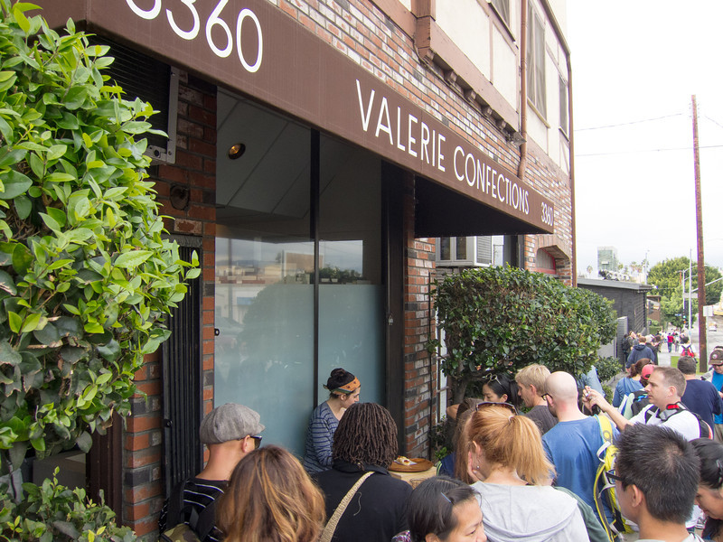 """<span id=""""title"""">Valerie Confections</span> Our first stop was at <a href=""""http://www.valerieconfections.com/"""">Valerie Confections</a>. They had all sorts of delicious things for the walkers. Good stuff!"""