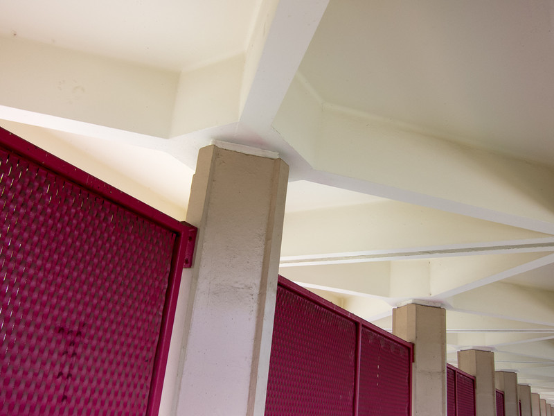 """<span id=""""title"""">Pink Fence</span> Interesting patterns at Fairfax high school."""
