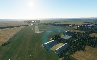 Olomoucké letiště jako celek.