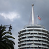 "<span id=""title"">Capitol Records</span> <em>Hollywood / Vine</em> All decked out for Christmas. Yay?"