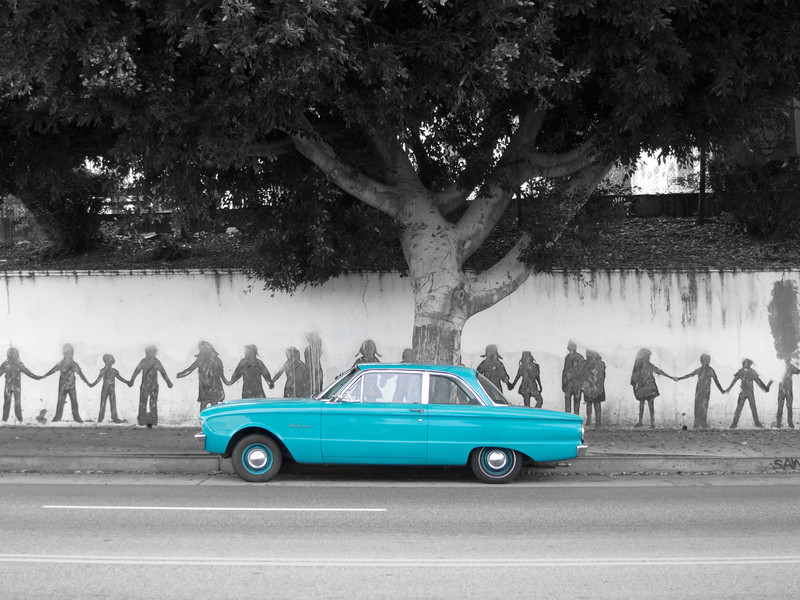 """<span id=""""title"""">Ford Falcon</span> <em>Temple / Douglas</em> Some photos are just perfect for selective color - I couldn't resist."""