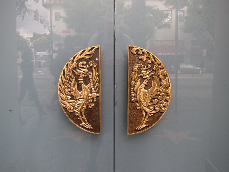 """<span id=""""title"""">Classy Doors</span> <em>Hollywood / Whitley</em> You know you're going somewhere special if the doors have handles like these."""