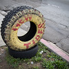"<span id=""title"">New Tires</span> <em>Beverly / Westmoreland</em> The other side of this tire says ""USED TIRES"""