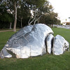 "<span id=""title"">Giant Robot Poo</span> <em>Santa Monica / Crescent</em> Or a maybe it's supposed to be a rock... I don't know. Sure is shiny, though!"