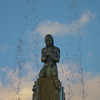 """<span id=""""title"""">Native American Woman</span> <em>Santa Monica / Wilshire</em> This figure tops the Electric Fountain at Santa Monica and Wilshire. We were pretty happy when we got to this intersection, but it also marked the end of all the pretty Beverly Gardens Park scenery."""