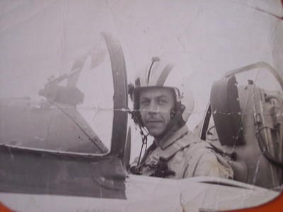 """Vicki Skinner's Daddy - """"Bill"""" Wilbur Eugene Skinner Nov. 5, 1931 - Aug. 18, 1963 (age 32)  Family History of Capt. Wilbur Eugene Skinner He first was drafted in 1953 & chose the U.S. Naval Cadet (NAVCAD) Program -- pilot training -- at the Naval Air Station in Pensacola, Florida.  After he completed flight school, he had the choice of remaining in the U.S. Navy as a pilot or transferring to the U.S. Marine Corps. He chose the Marines.  He served 18 months overseas in Japan around 1958 and 1959 and then was transferred to the Naval Air Station Whiting Field in Milton, Florida.  After some time, he was transferred to Beaufort Air Station, Beaufort, South Carolina.  During the Cuban Missile Crisis in October 1962, Billy and his air unit were stationed in Key West, Florida, only 90 miles from Cuba, ready to attack Cuba if the Russians didn't withdraw their missiles from Cuba. Russia did remove their missiles, combat was averted, and Billy's unit left Key West.   From Beaufort he was assigned to the U.S.S. Independence aircraft carrier (out of Norfolk, Virginia) in July 1963, and he was deployed to Europe. His last mission was from the deck of the U.S.S. Independencewhere he died in a fluke Air Traffic Controller error and fog - caused him to die from a plane crash."""