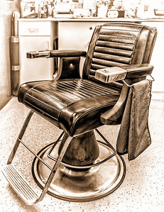 Mike Packman Old Fashion Barber Chair